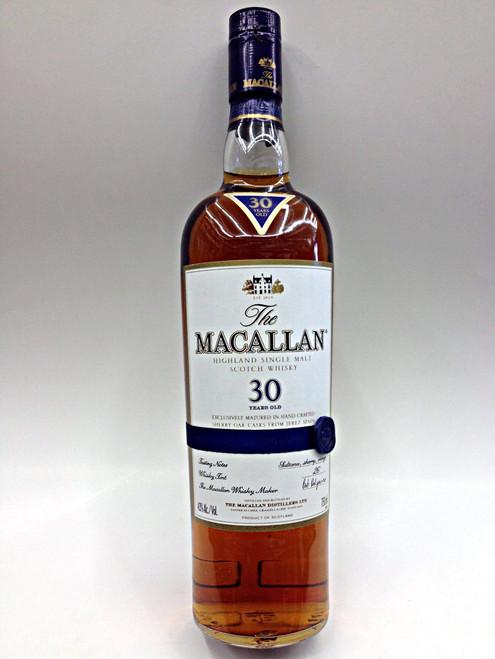 Macallan 30 Year Sherry Oak Scotch
