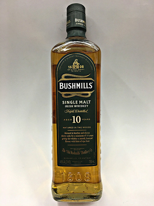 Bushmills 10 Year Old Single Malt Whiskey