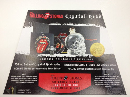 Crystal Head Vodka Rolling Stones 50th Anniversary