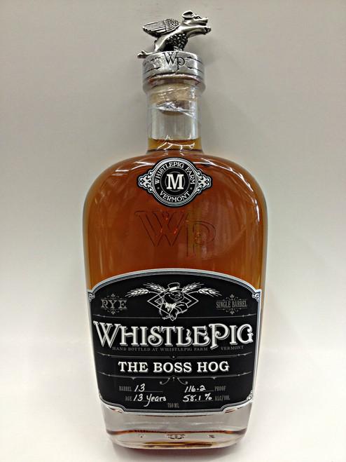 WhistlePig The Boss Hog Straight Rye Whiskey Straight Rye 116.2 Proof Whiskey