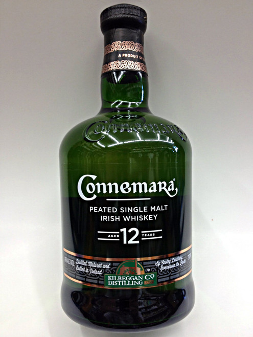 Connemara Peated 12 Year Single Malt Irish Whiskey, 080686187028