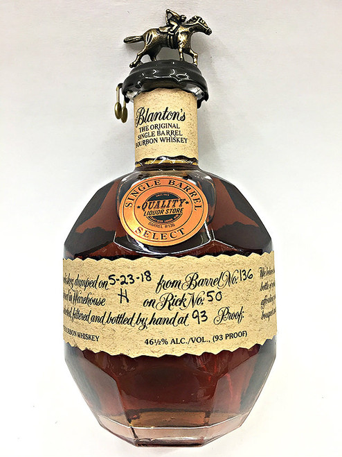 Blanton's Bourbon Quality Liquor Store Single Barrel Select 2018