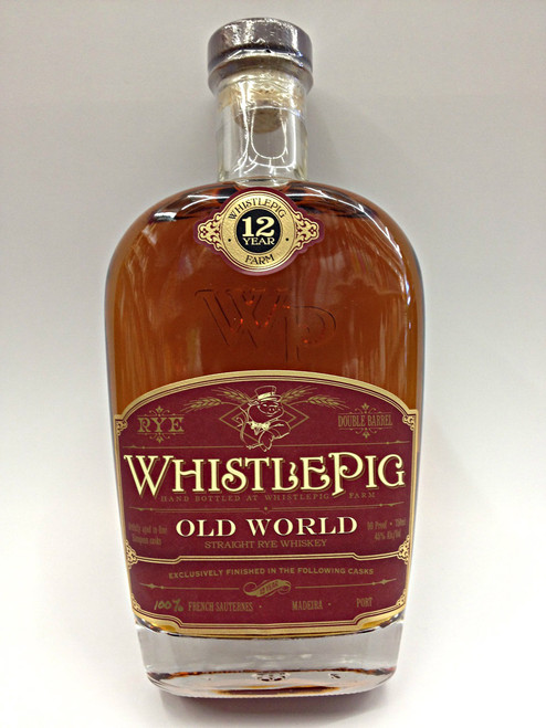 Whistle Pig Old World 12 Year Old Rye Whiskey