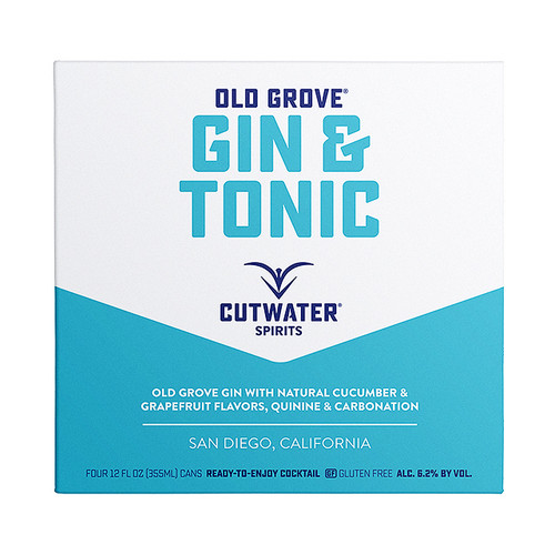 Cutwater Gin and Tonic 4 Pack Cans