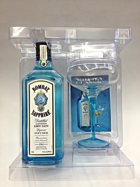 Bombay Sapphire Gin With Martini Glass