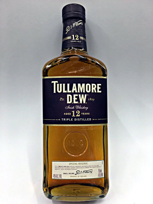 Tullamore Dew 12 Year Old Irish Whiskey Special Reserve