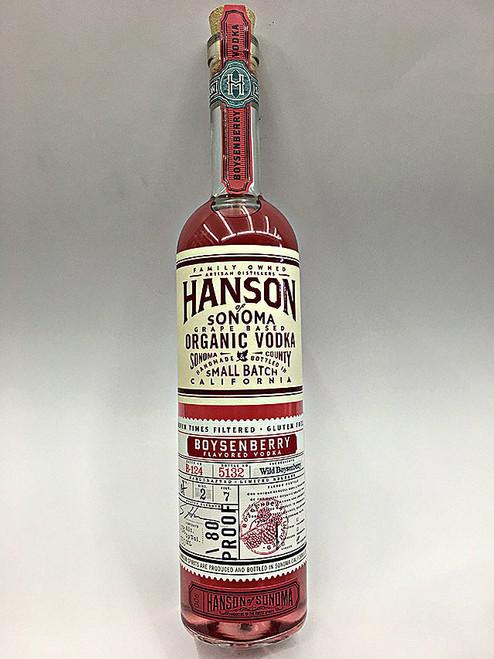Hanson Grape Based Wild Boysenberry Flavored Organic Vodka