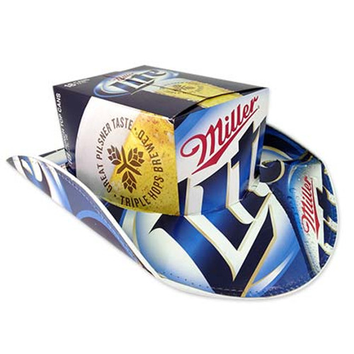 Miller Lite Box Beer Hats Cowboy Hat - Quality Liquor Store 04f627b5458