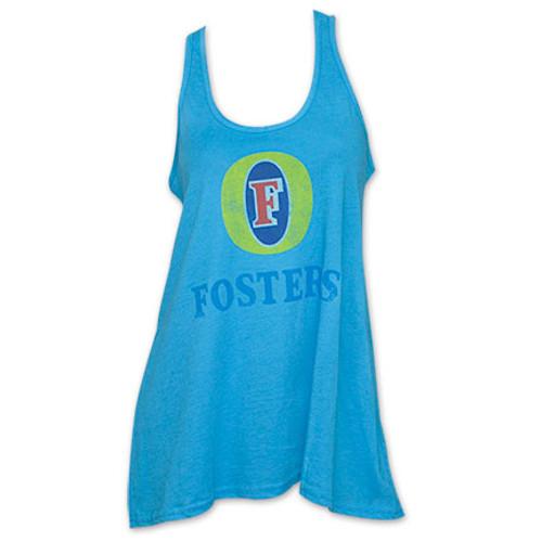 ce9eecb6da363f Foster s Logo Women s Tank Top Shirt - Blue - Quality Liquor Store