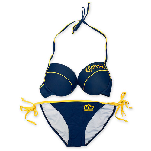 3f6002b93cec3 Corona Extra Women s Navy Blue Underwire Piped String Bottom Bikini ...