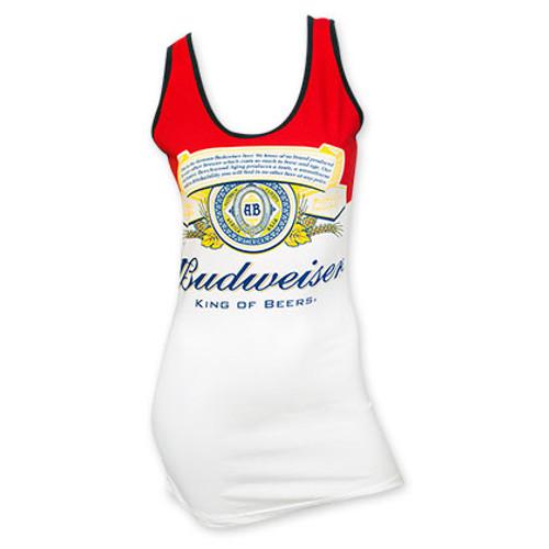 984226d3f2bac9 Budweiser Women s Vertical Logo Tank Top - Quality Liquor Store