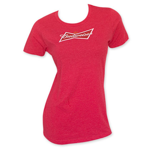 6621d51fee7446 Budweiser Women s Red Crew Neck T-Shirt - Quality Liquor Store