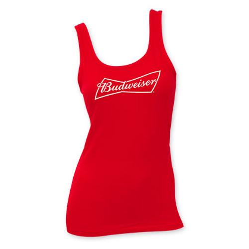94f1f5832bcfd9 Budweiser Women s Red Tank Top - Quality Liquor Store