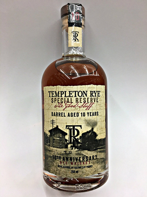 Templeton Barrel Aged 10 Year Rye Whiskey Special Reserve with Good Stuff