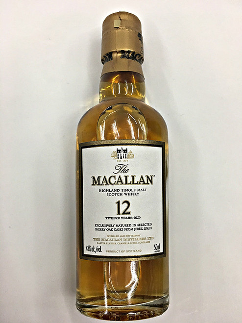 Macallan 12 Years Old Single Malt Scotch