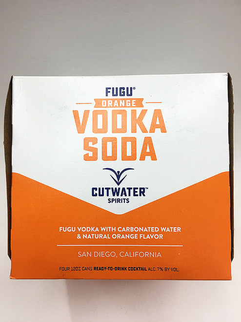 Cutwater Fugu Vodka Orange Soda 4 Pack