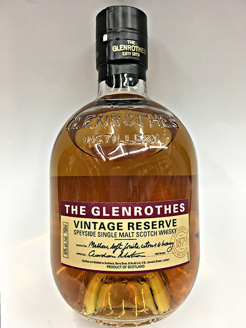 The Glenrothes Vintage Reserve Scotch