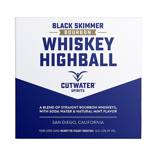 CutWater HighBall Black Skimmer Bourbon 4 Pack