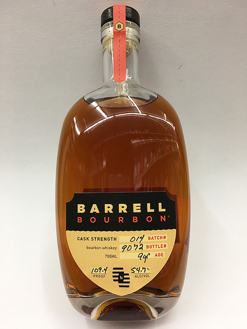 Barrell Bourbon Cask Strength Batch# 014