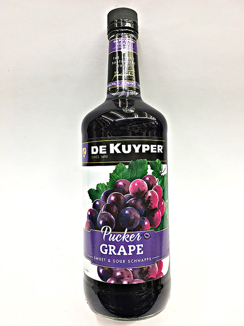 Dekuyper Pucker Grape Sweet & Sour Schnapps 1 Liter