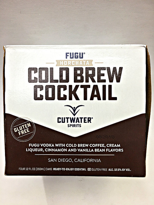 CutWater Fugu Vodka Horchata Cold Brew Cocktail 4 Pack