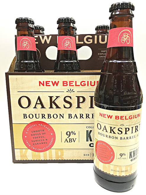 New Belgium Oakspire Bourbon Barrel Ale Knob Creek