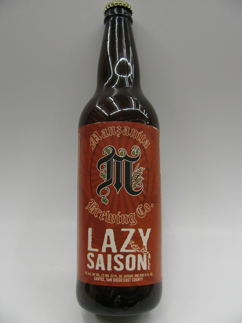 Manzanita Lazy Saison Ale 22oz