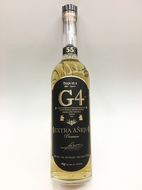 "G4 Extra Anejo Tequila ""Aged 55 Months"" Limited Edition"