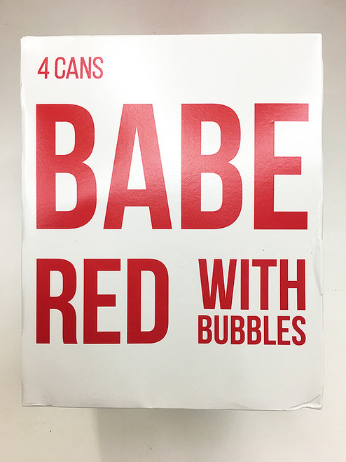 Babe Red With Bubbles 4 Pack Can