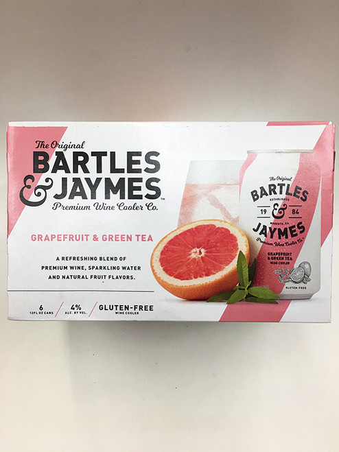 B&J Grapefruit Green-Tea Can 6 Pack