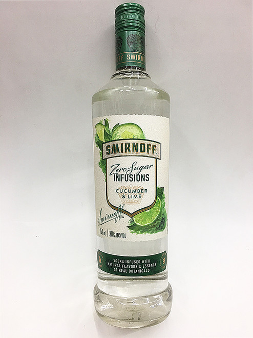 Smirnoff Zero Infusions Cucumber and Lime Vodka