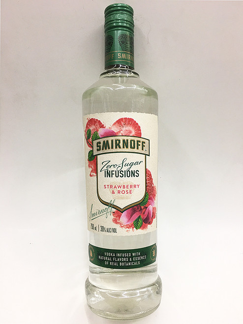 Smirnoff Zero Infusions Strawberry and Rose Vodka