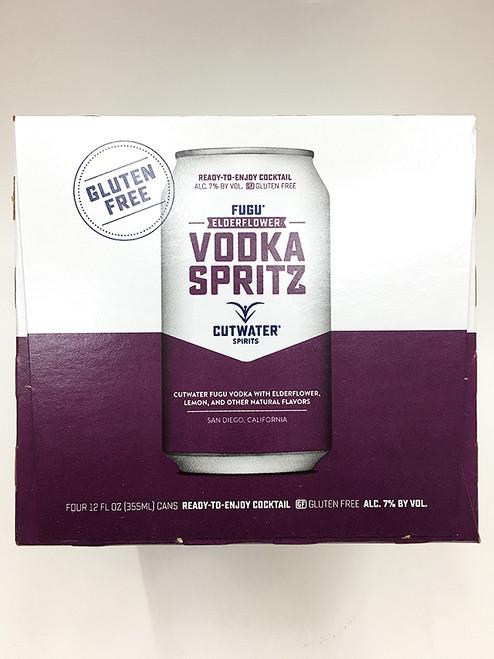 """CutWater """"Elderflower"""" Vodka Spritz Can 4 Pack"""