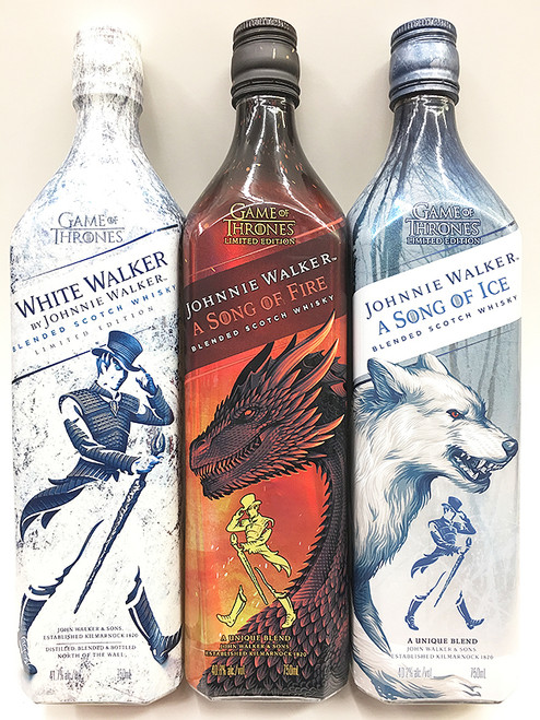 Johnnie Walker Trio White Walker + A Song Of Ice + A Song Of Fire
