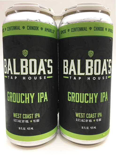 Balboa's Tap House Grouchy IPA 4 Pack Can's