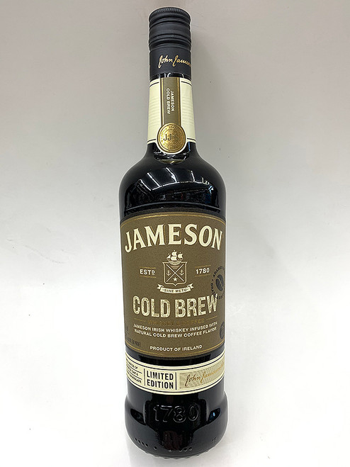 Jameson Cold Brew Irish Whiskey infused with natural cold brew coffee flavor