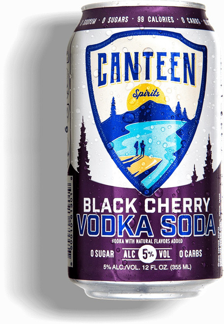 Canteen Black Cherry Vodka Can 6-Pack