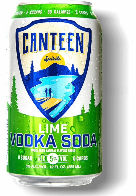Canteen Lime Vodka Can 6-Pack