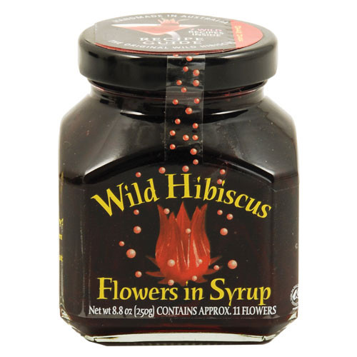 Wild Hibiscus Flowers in Syrup 11 Flower Jar 8.8 oz