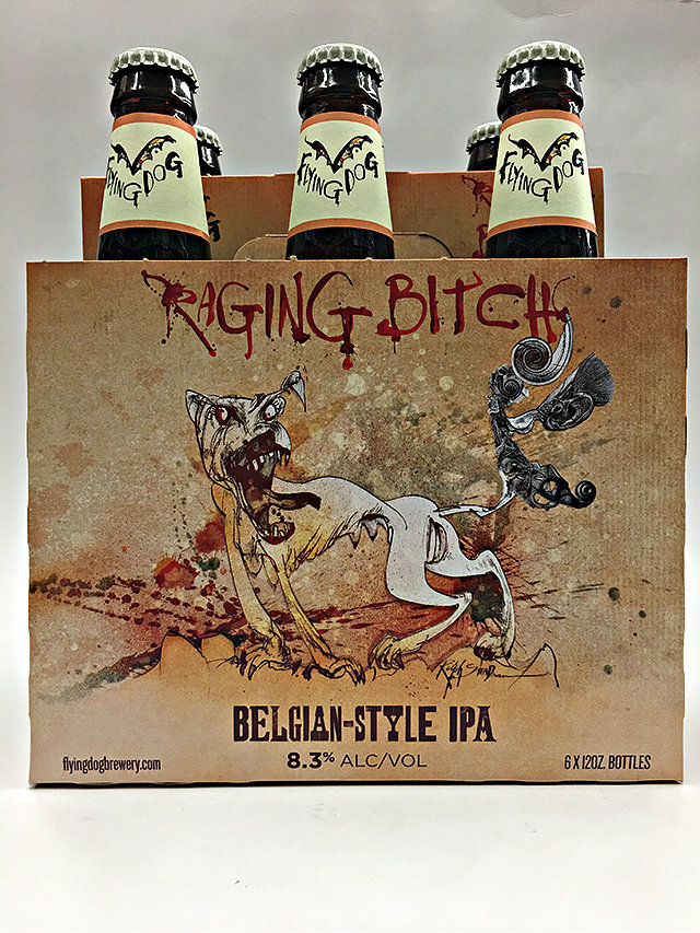 FLYING DOG DOUBLE DOG   raging bitch STICKER decal craft beer brewing brewery
