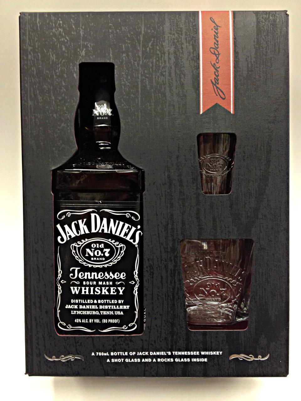 Jack Daniel No 7 Old Tennessee Sour Mash Gift Set   Quality Liquor Store