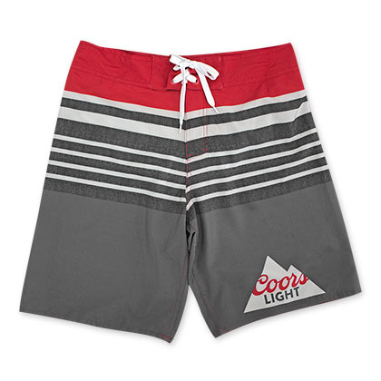 94d3b39fcd Coors Light Men's Red And Grey Board Shorts - Quality Liquor Store