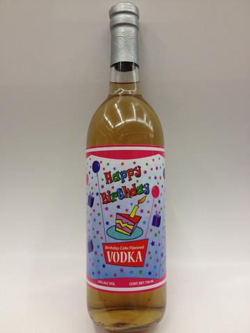 Brilliant Happy Birthday Cake Vodka Personalised Birthday Cards Paralily Jamesorg