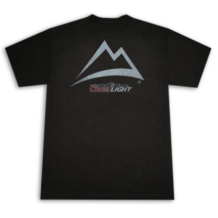 0daf0329ec7600 Coors Light Mountain Outline Black Graphic T-Shirt - Quality Liquor ...