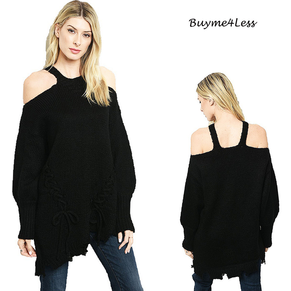 Wendy Drapey cold shoulder sweater