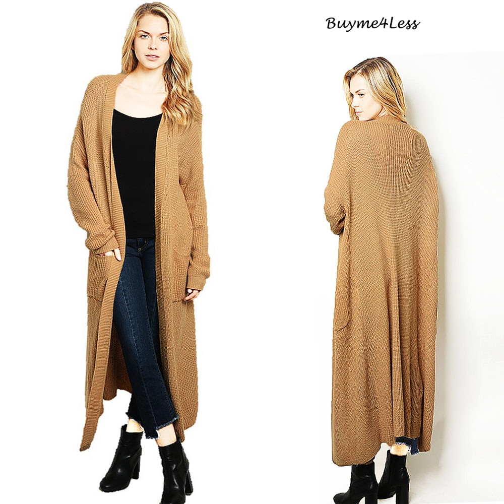 Whitney Longline Duster Sweater Cardigan