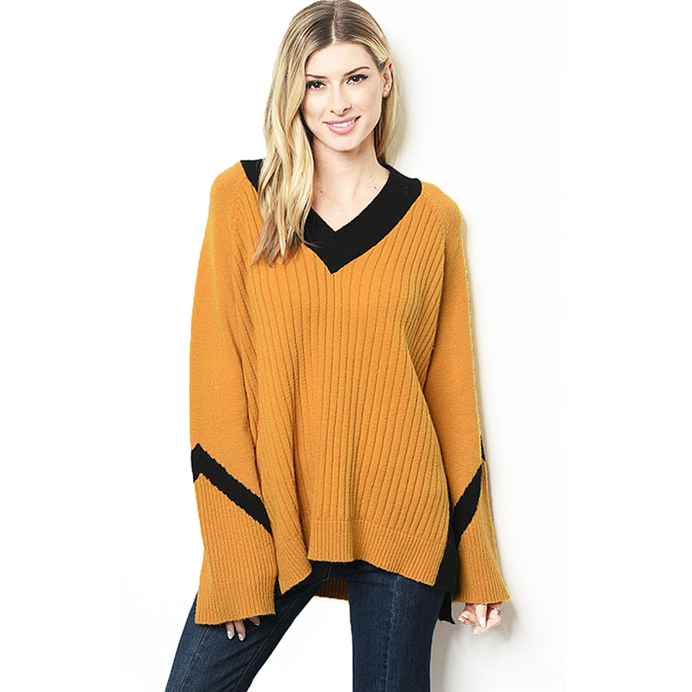 Retro Sporty Cashmere Sweater Top