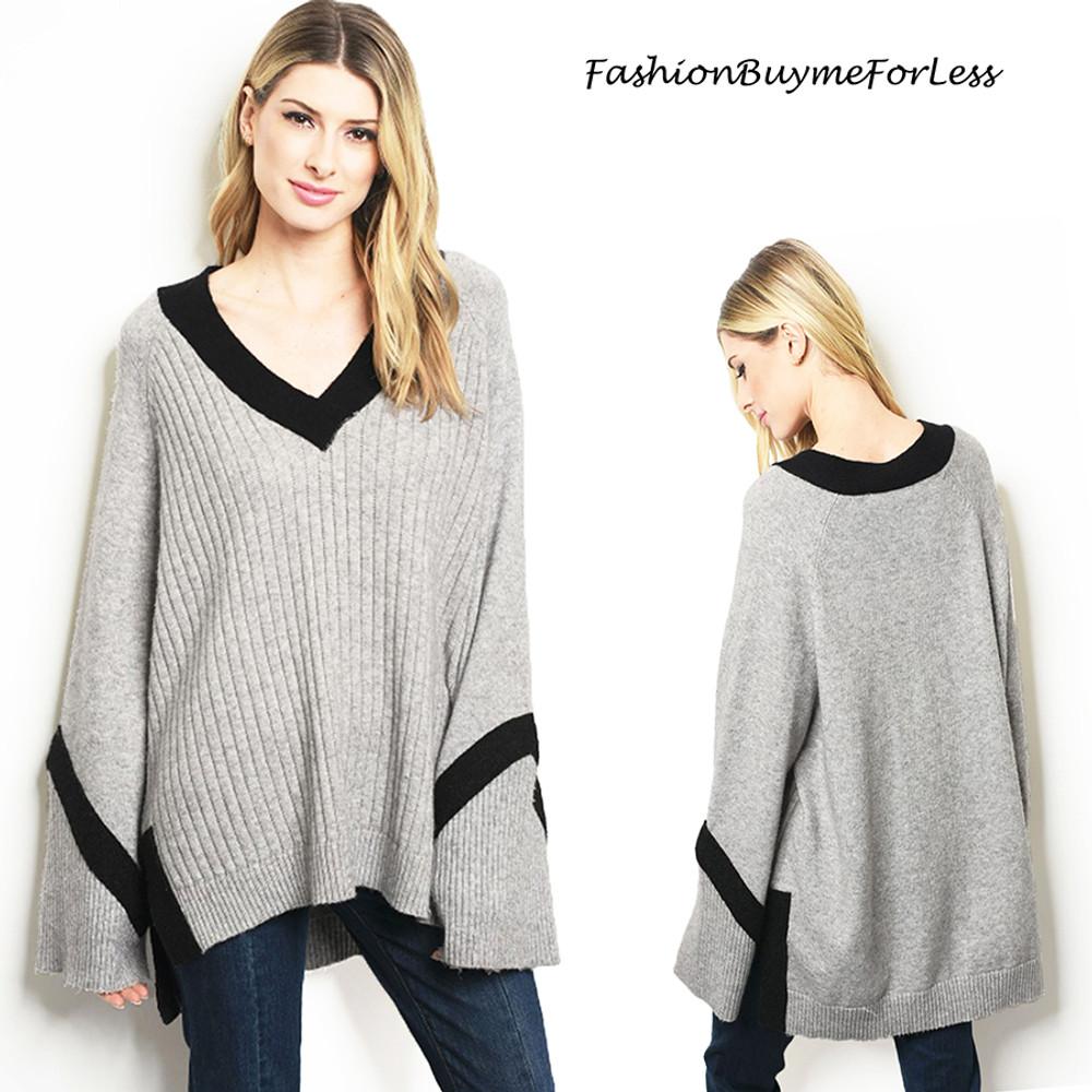 Sporty Lagenlook Wool Cashmere Sweater - S8814
