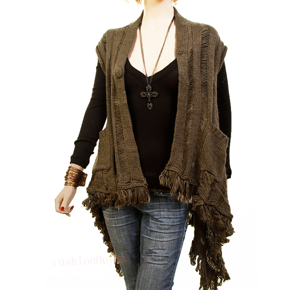 Olive Mohair Sweater Cardigan Top
