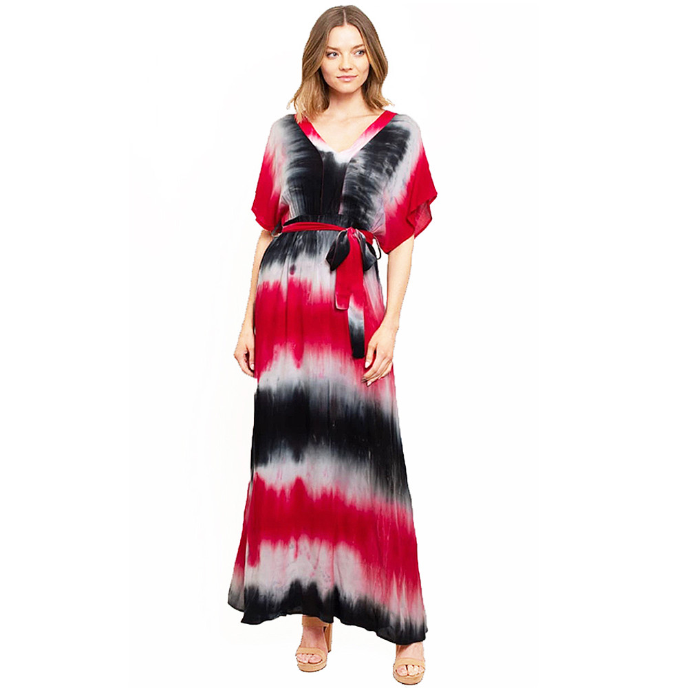 Colorblock Tie Dye Long Maxi Dress